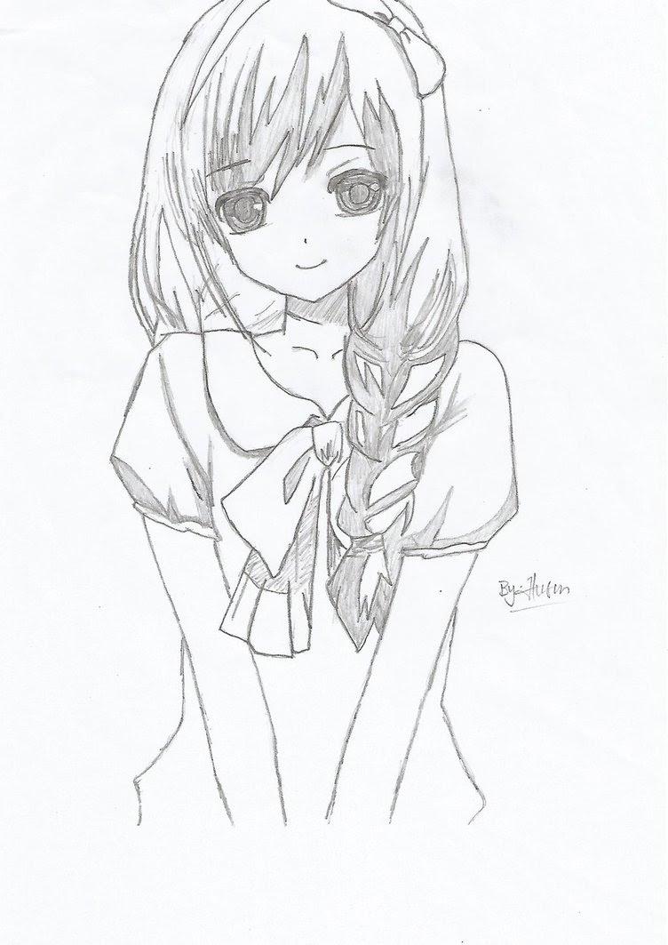 752x1063 How To Draw Beautiful Anime Girl Beautiful Anime Girl Face Drawing