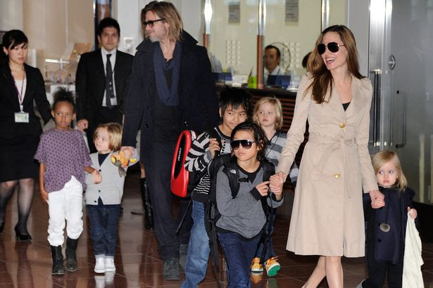 Image result for angelina jolie and brad pitt children