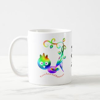 bird of happiness mug