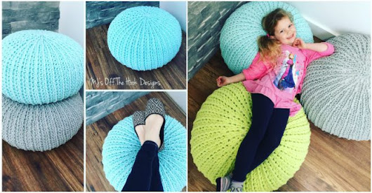 Free Crochet Floor Pouf Tutorial | How To Instructions