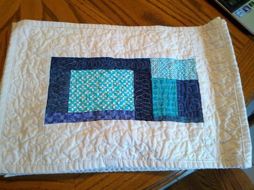 Blue and green placemats