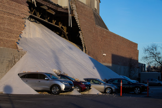 Wall collapses at Morton Salt building in Goose Island