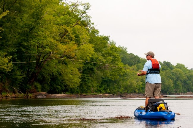 Backwater kayak anglers the flint river makes the top ten for Best places to fish in the us