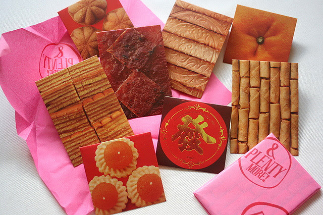 Chinese New Year Food-themed Red Packets