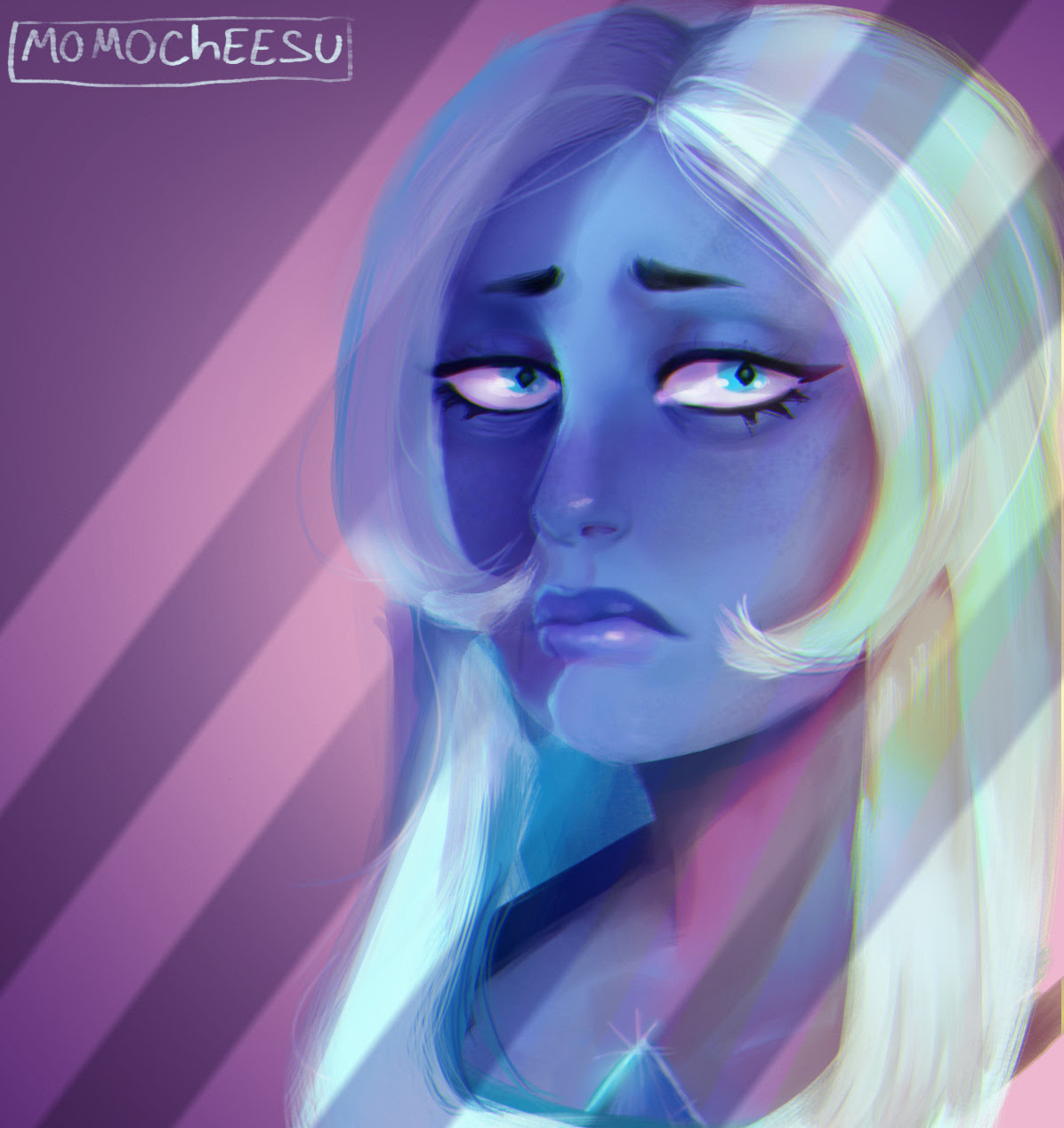Blue, my queen (ok, i don't like diamonds that much but Blue surely looks beautiful) also digital paint training