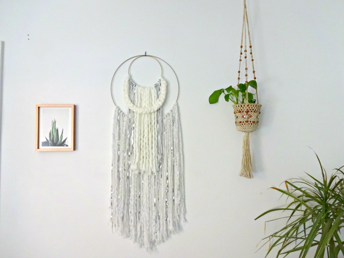 handmade wallhanging thrifted macrame planter and unique plant art