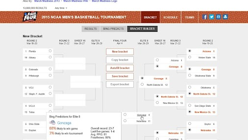 We like the Badgers! Need help with your bracket? Bing brings data-crunching to the dance. #badgers...