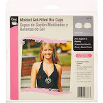 (B/C Cup, Nude) - Dritz 53090-BC Moulded Gel Filled Bra Cups, Nude, B/C Cup