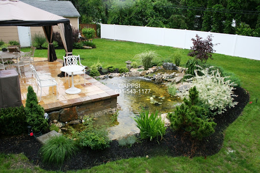 Fish Pond & Landscape Designers contractors long Island NY