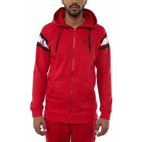c2d7a6e327c Jordan Jumpman Air Basketball Full-Zip Hoodie Gym Red/Black - Google ...
