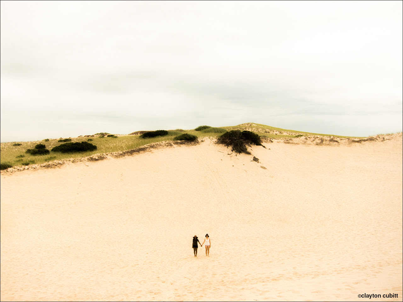 Come and play with us. Yumna and KT in the dunes.   (2145)