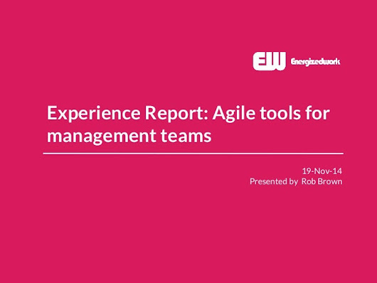 Experience report on agile tools for management teams