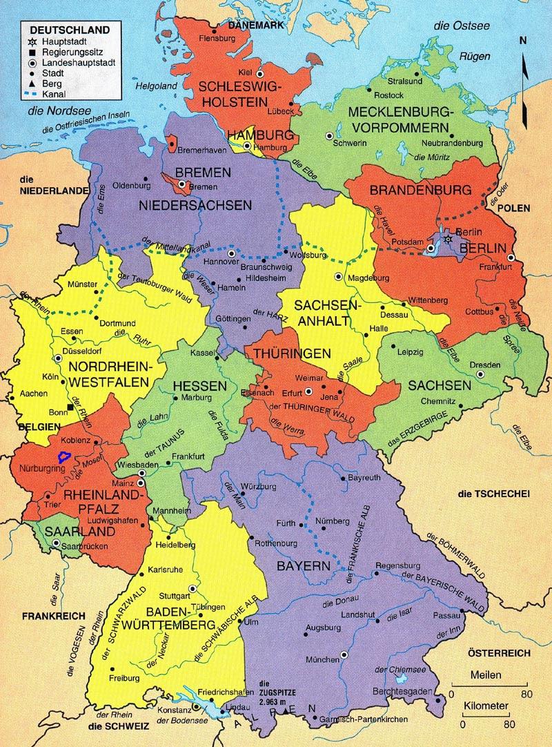 kaart duitsland streken 25 Vers Kaart Regio'S Duitsland