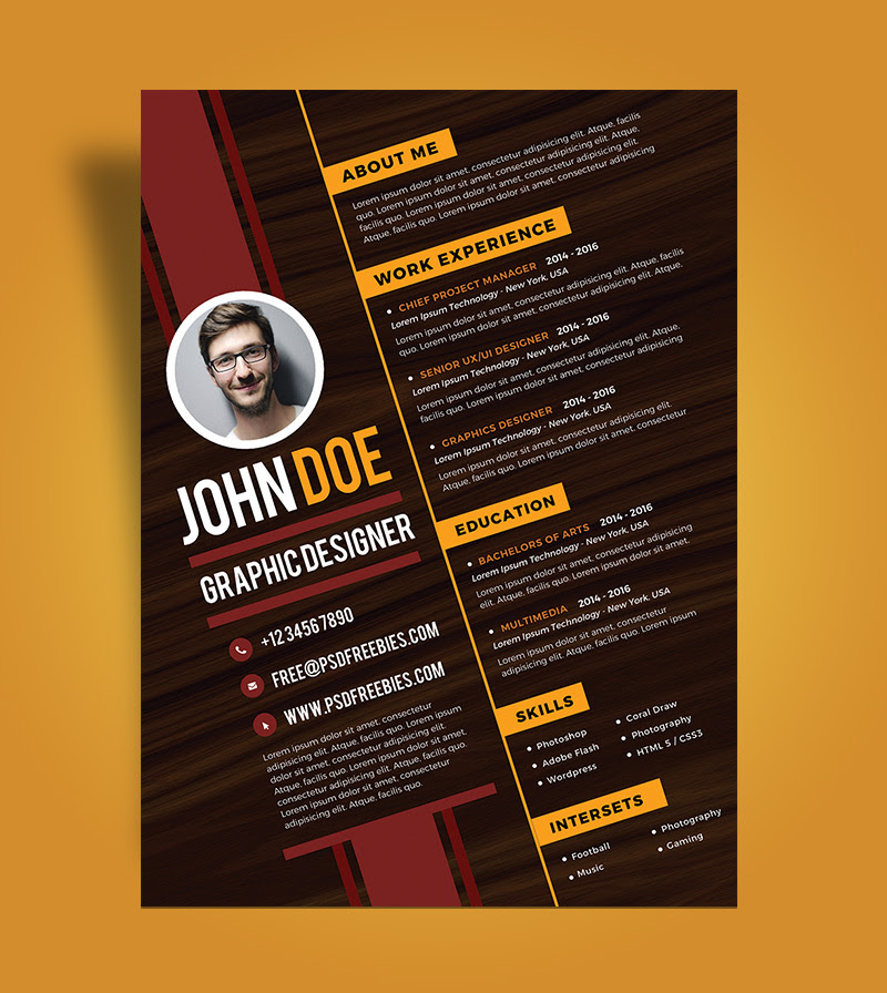 Creative Unique Graphic Designer Cv Best Resume Examples
