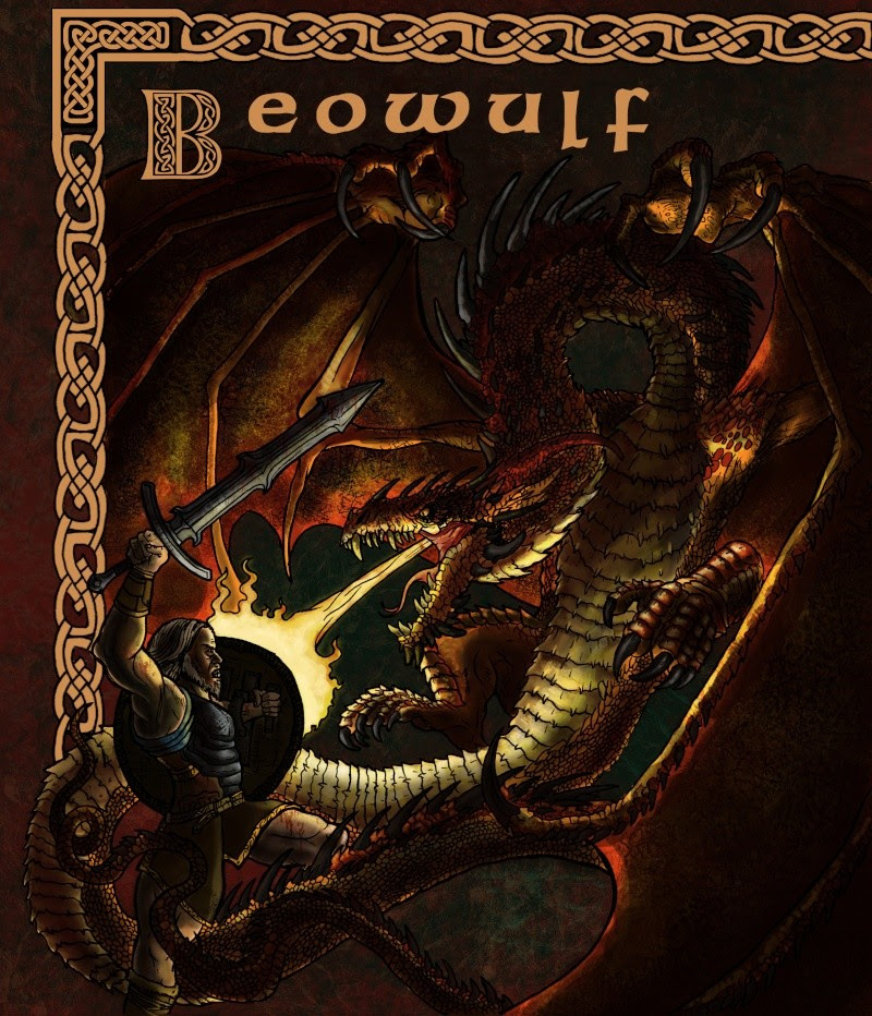 Beowulf face au Dragon