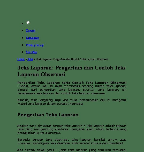 Apa Yang Dimaksud Dengan Teks Hasil Observasi - Terkait Teks