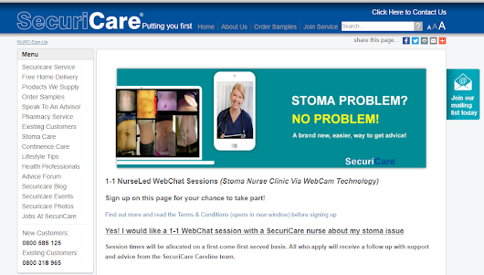 Pioneering virtual stoma care clinic
