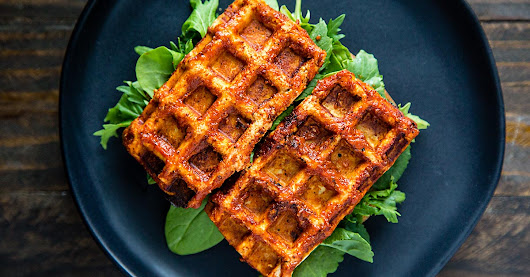 Barbecued Waffle Iron Tofu | Recipe from FatFree Vegan Kitchen