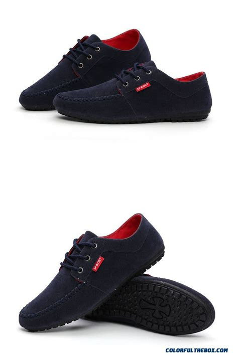 cheap   fashion men casual shoes driving shoes men england style suede leather mens flat