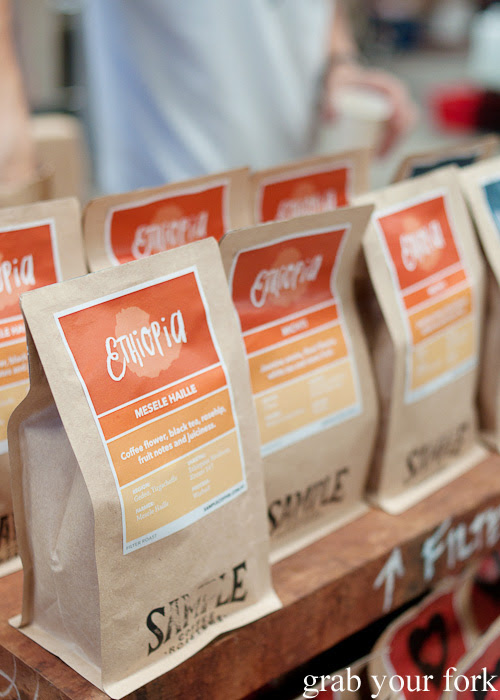 Ethiopia coffee beans from Sample Coffee Roasters at the Sunday Marketplace, Rootstock Sydney 2014