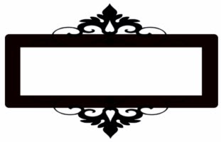 Oblong Mini frame ornate app 100 x 85