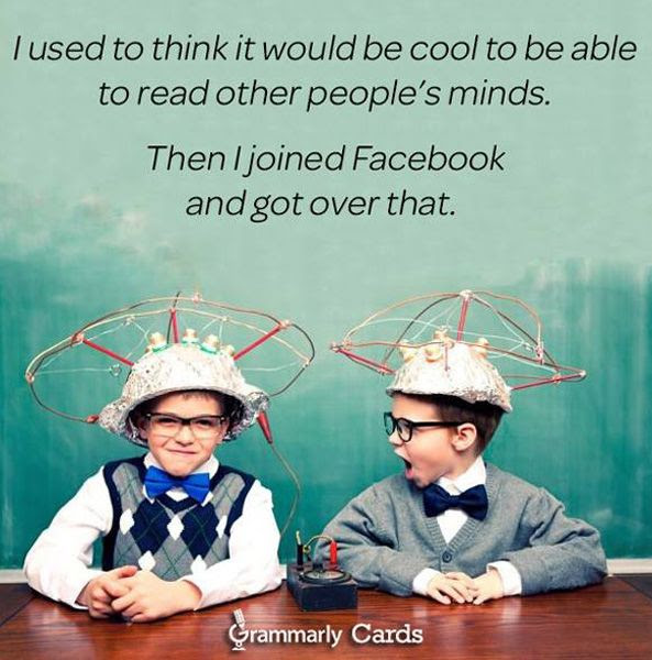 Facebook, Myspace and other social network sites have taken the fun out of telepathy...if it were real.