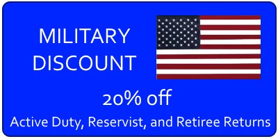 Military Discount - Active Duty, Reserves, Retired - Virginia Beach Tax Preparation
