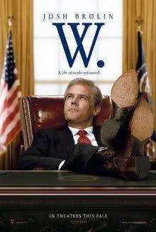 'W.' movie poster.