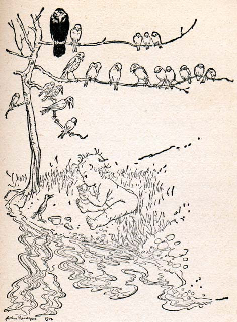 Arthur Rackham, Peter Pan in Kensington Gardens, 1906
