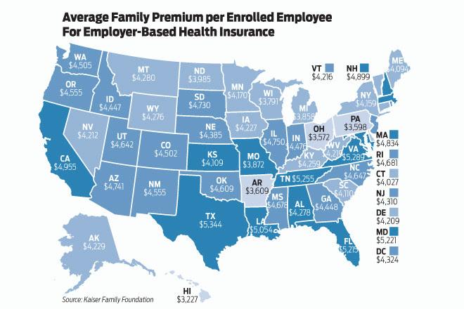 Average Arkansas Family Contribution to Health Insurance ...