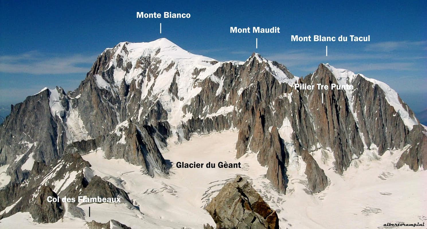 Pilier Tre Punte annotated view