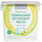 Prince & Spring Premium Dishwasher Detergent Packs - 85 Count Lemon Scent