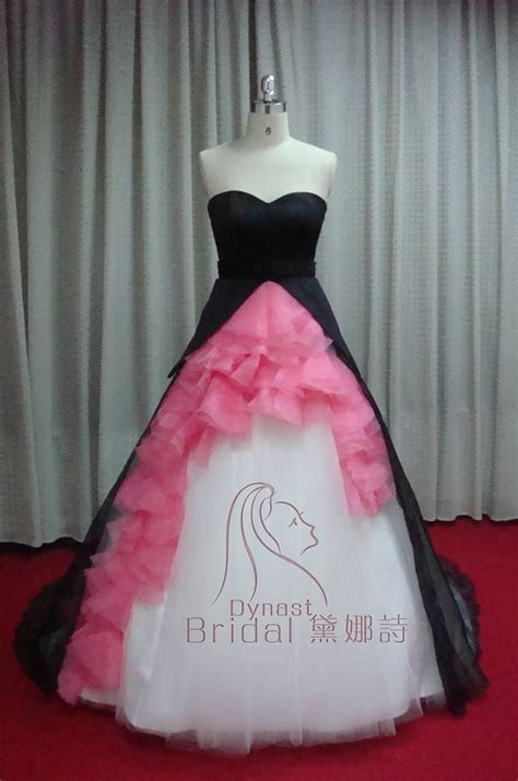 Taffeta Tulle Organza Royal Train Ruched Hot Pink Black