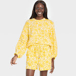 Women's Knit Pullover Sweater - Who What Wear Yellow Floral