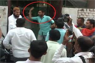 'भारत माता की जय' न बोलने पर मुस्लिम को मारा थप्पड़, 125 लोगों पर केस दर्ज के लिए चित्र परिणाम