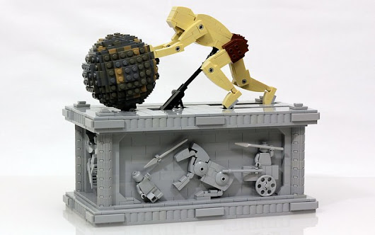 Kinetic sculpture of Sisyphus built from LEGO | The Brothers Brick | LEGO Blog