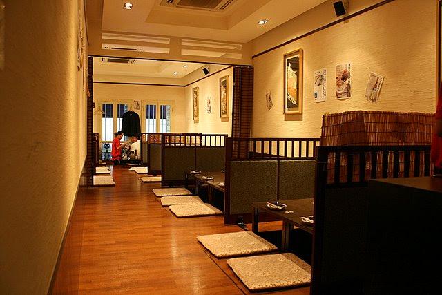 Traditional seating upstairs at Tamaya