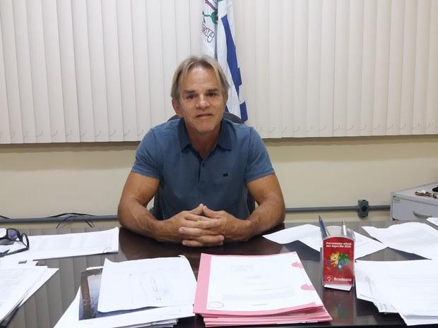Sérgio Meneguelli, prefeito de Colatina (Foto: Brunela Alvez/A Gazeta)