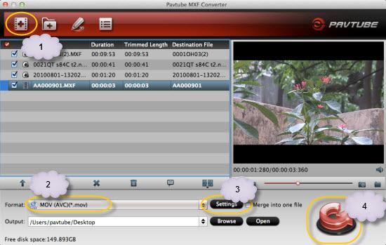 pavtube mxf converter for mac