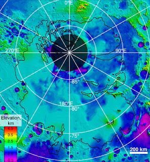 Mars Express muestra el agua en el polo sur de Marte