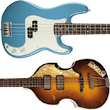 Top 10 Guitars | Fender Precision Bass & Hofner 500/1 Bass