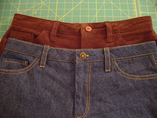 J Stern Designs jeans and corduroys, done!