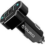 Aduro Powerup 4 Port USB Car Charger Black