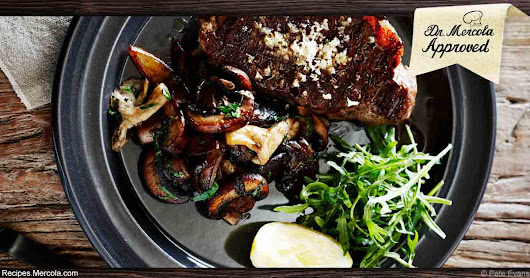 Mouthwatering Barbecued Sirloin With Mushrooms, Horseradish and Arugula Recipe