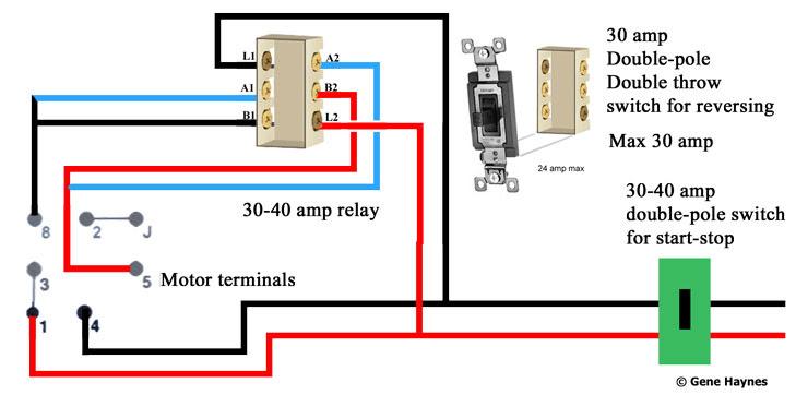 diagram 3 phase reversing motor wiring diagram single pole