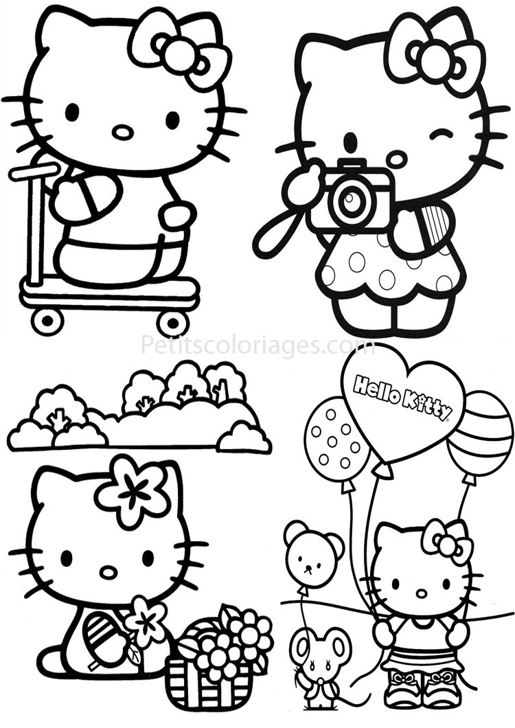 Petits Coloriages Hello Kitty Sur Petitscoloriagescom