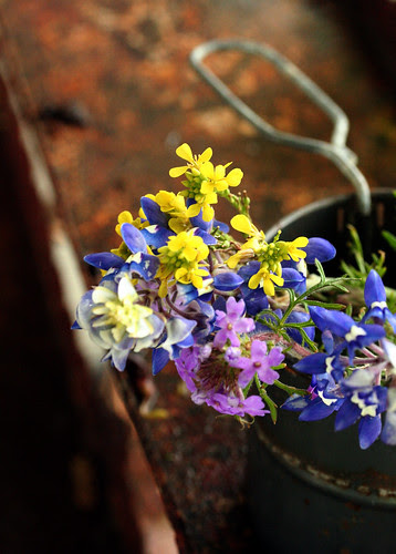 texas bouquet in sifter