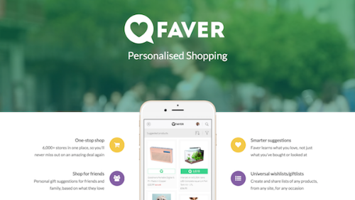 Faver: Smarter, personalised shopping. Let's make shopping fun again.
