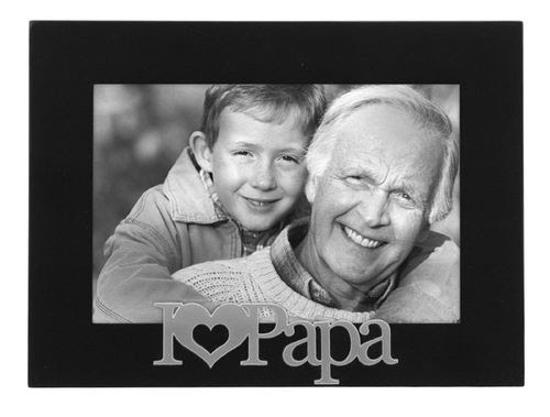 I Love Papa 4x6 Black Photo Frame With Silver Writing Athena Posters