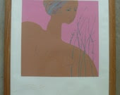 RESERVED Sacha TEBO Silk Screen, Signed Limited Edition 3/60, Nude Woman, Haitian and Dominican Republic